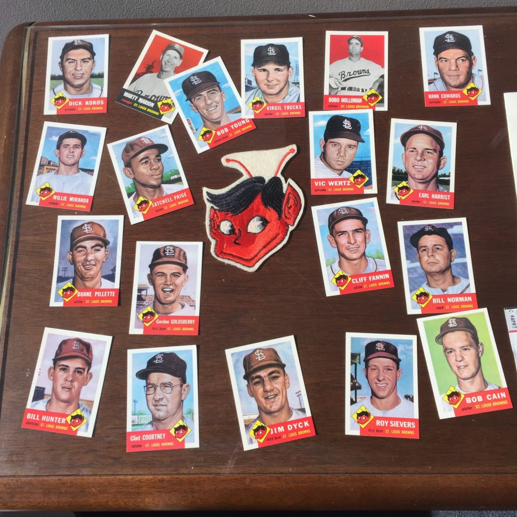 Browns baseball cards