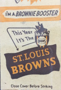 Browns matchbook