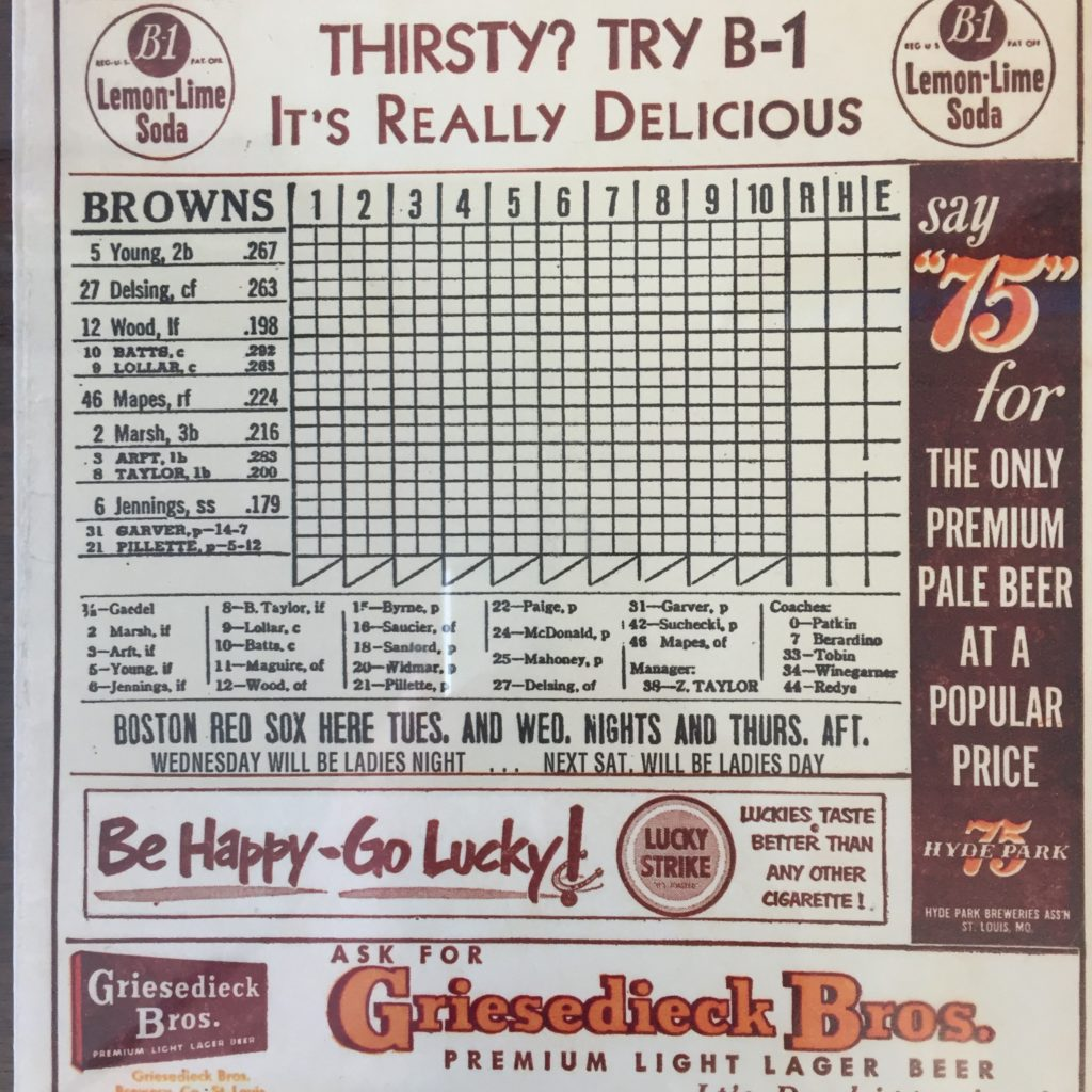 Browns scorecard