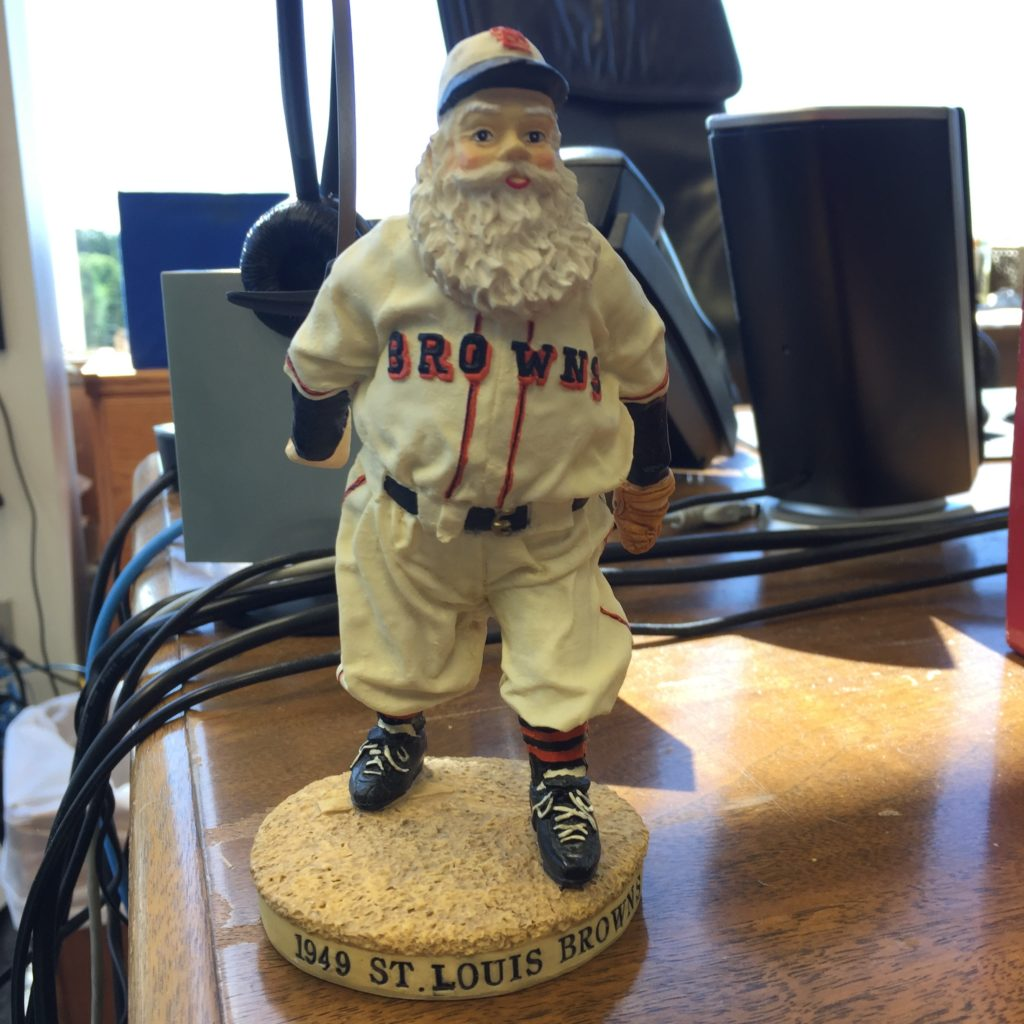 Santa Claus Browns bobblehead